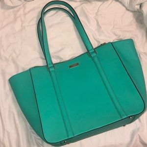 Teal blue/green Kate Spade large Tote